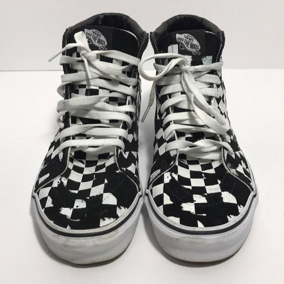 20138f45c8 Vans Overprint Check Sk8 Hi Sneaker. M 5c474c131b16db8ac8e30883